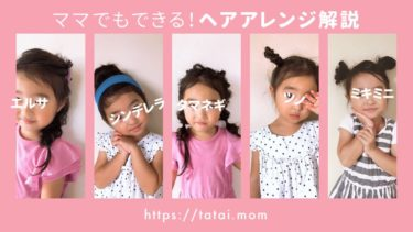美容師ママが教える!子どものディズニーヘアアレンジ5選