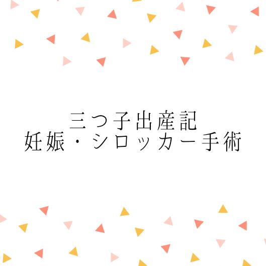 【三つ子出産記】①妊娠&シロッカー手術について