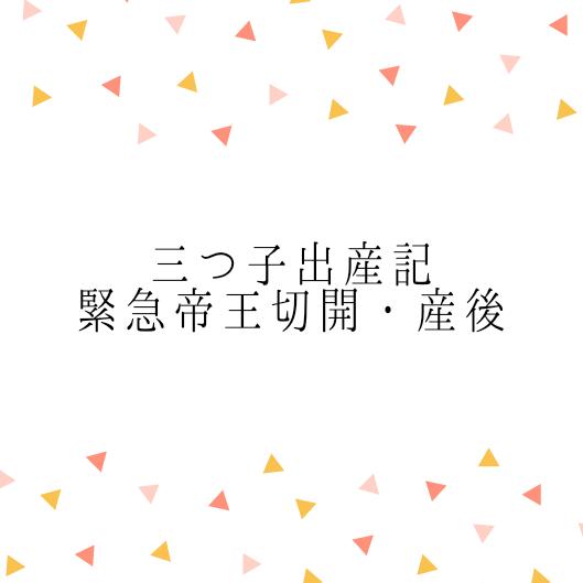【三つ子出産期】③緊急帝王切開・産後のあれこれ