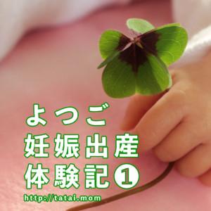 初産でよつごを妊娠!!【よつご出産記】