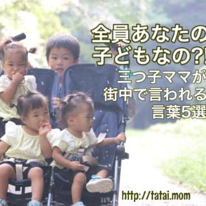 【三つ子アルアル】三つ子連れて歩いていると言われる言葉5選