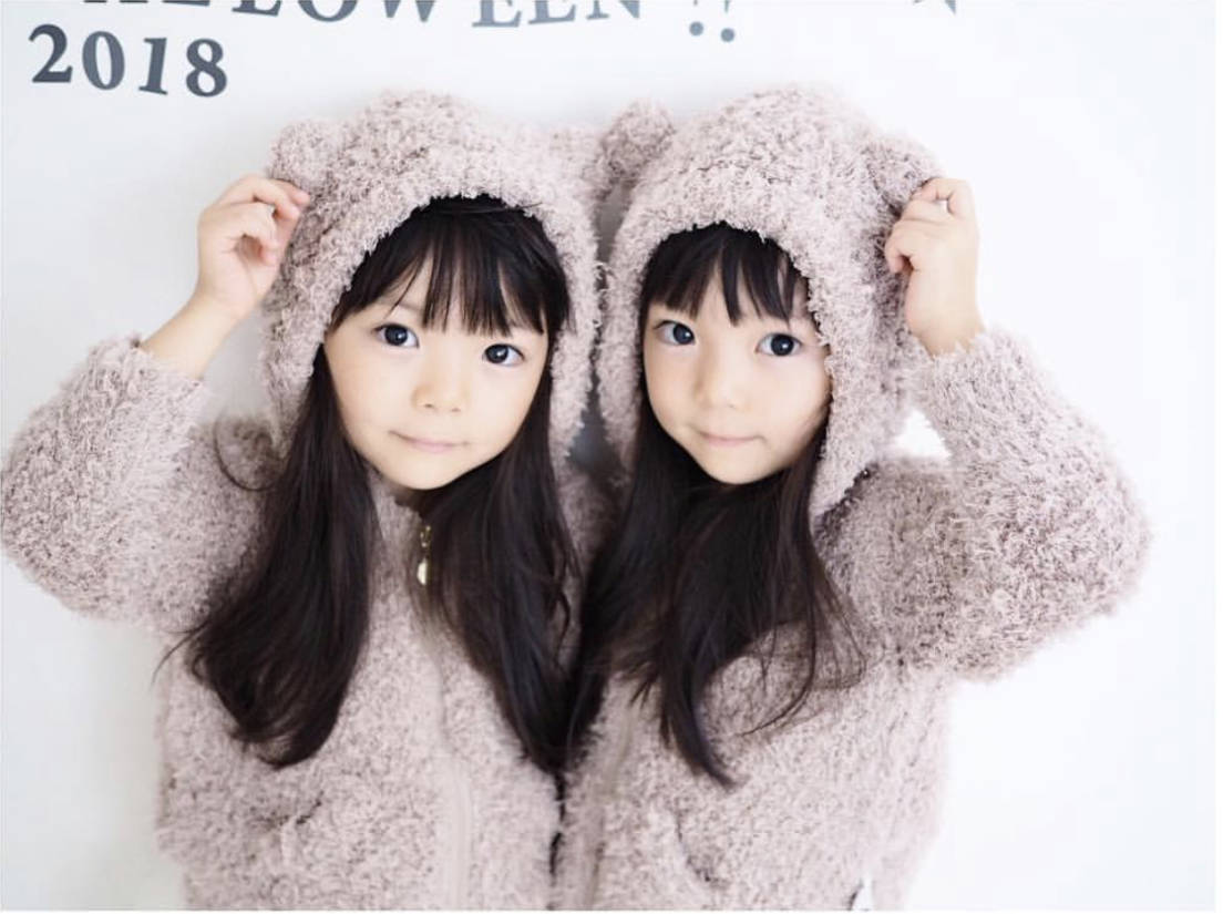 2018AW ニット 双子コーデ