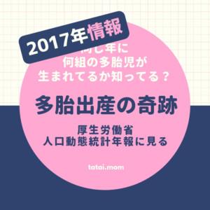 2017年の多胎分娩の総数【平成29年】